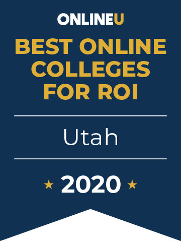 2020 Best Online Colleges in Utah Badge