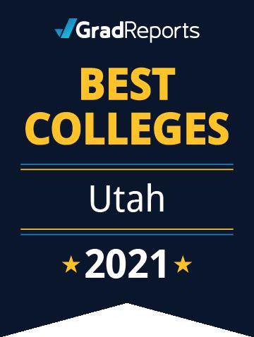 2021 Best Colleges in Utah Badge