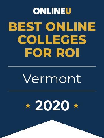 2020 Best Online Colleges in Vermont Badge