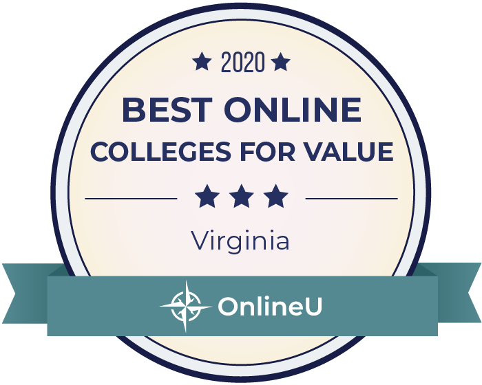 2020 Best Online Colleges in Virginia Badge