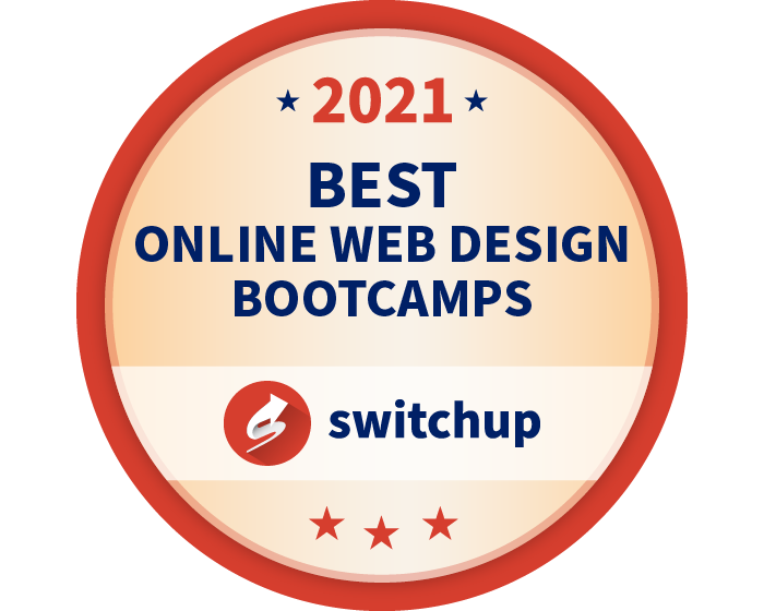 2021 Best UX/UI Design Bootcamps Badge