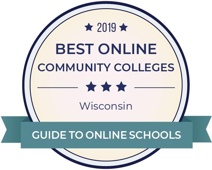 2019 Best Online Community Colleges in wisconsin Badge