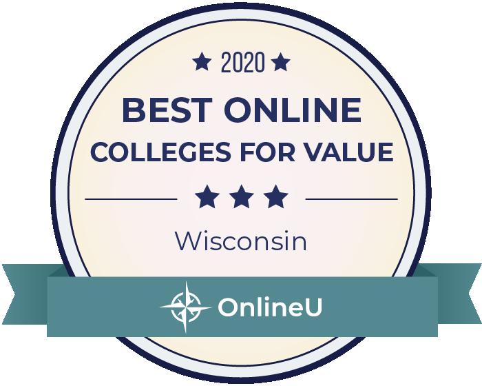 2020 Best Online Colleges in Wisconsin Badge