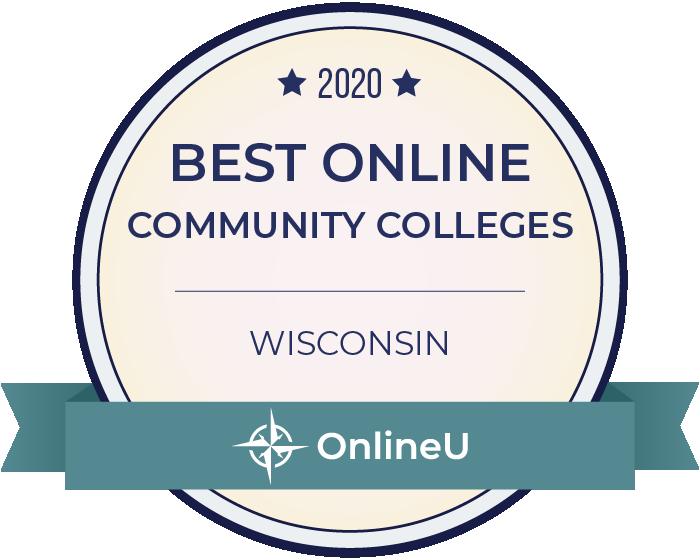 2020 Best Online Community Colleges in Wisconsin Badge