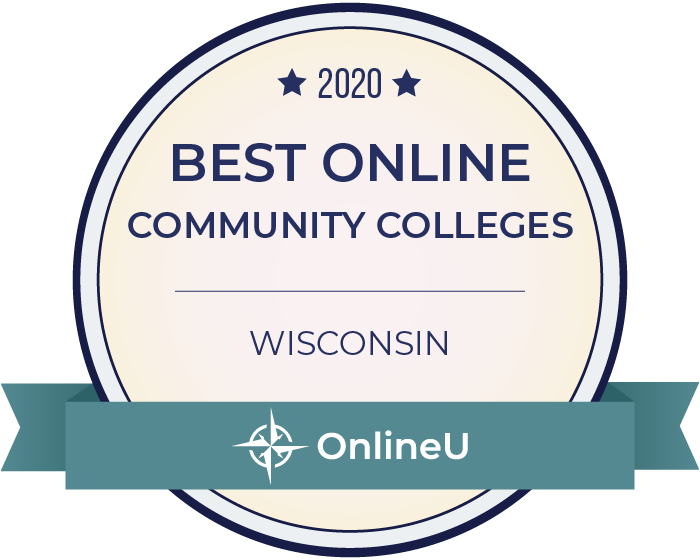 2020 Best Online Community Colleges in Wisconsin Badge