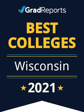 2021 Best Colleges in Wisconsin Badge