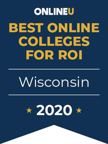 2020 Best Online Colleges in Wisconsin Badge