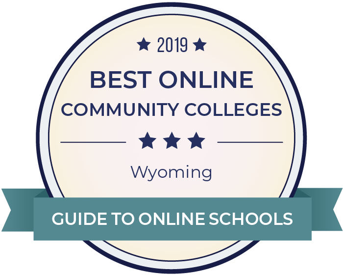 2019 Best Online Community Colleges in wyoming Badge