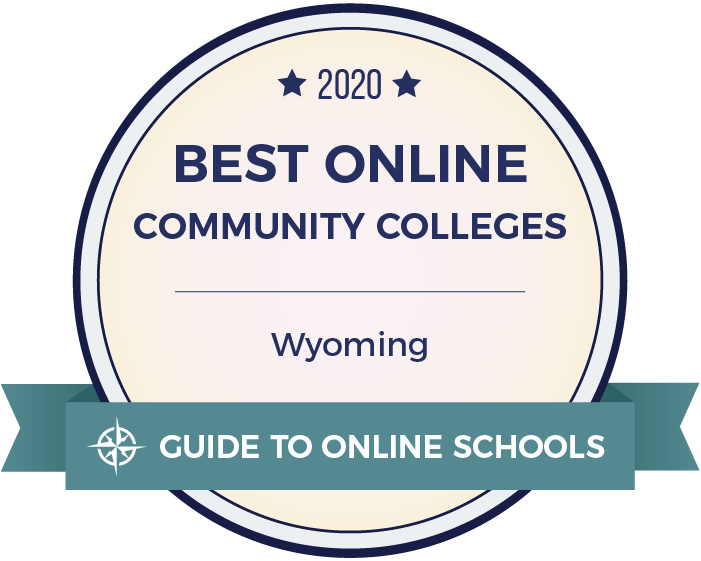 2020 Best Online Community Colleges in Wyoming Badge